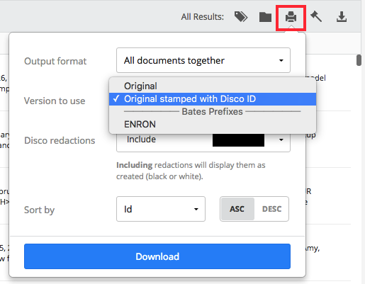 Using batch print for interoffice communication (Legacy matters) – DISCO